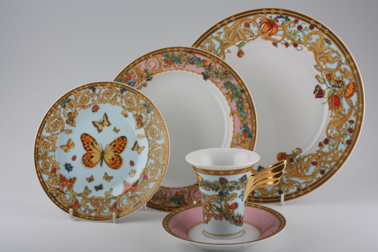 Rosenthal le jardins de versace plates coffee for Jardin de china
