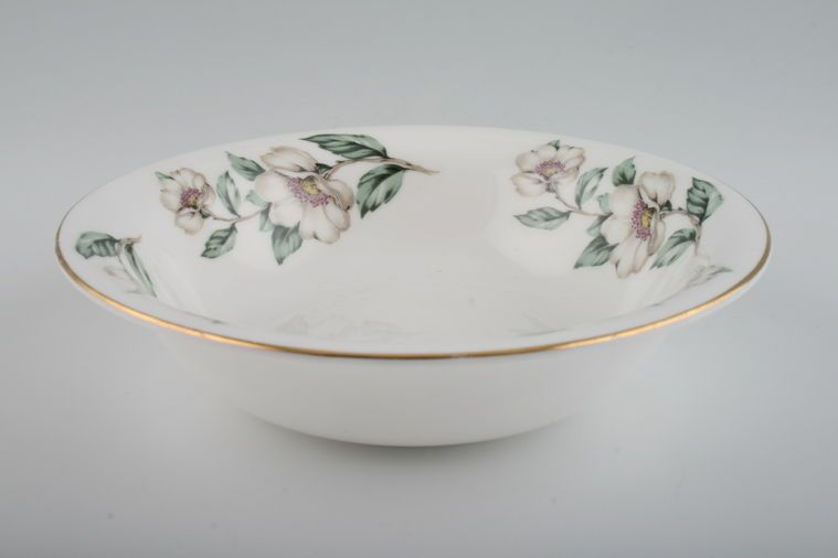 Crown Staffordshire - Christmas Roses - Plain Edge - Oatmeal / Cereal / Soup