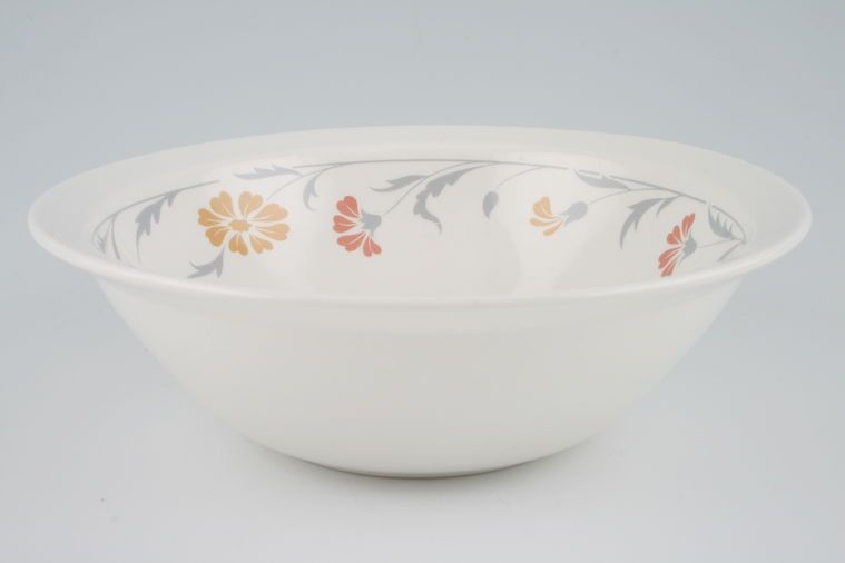 Johnson Brothers - Lugano - Orange and terracotta flowers - Serving Bowl