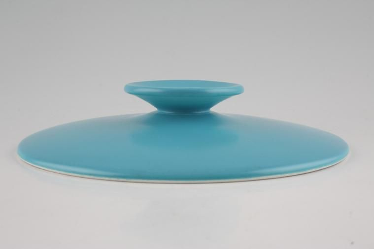 Meakin - Elite - Vegetable Tureen Lid Only - plain turquoise
