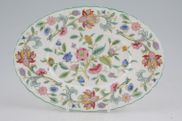 "Minton - Haddon Hall - Green Edge - Sauce Boat Stand - 7 7/8"" - Oval, 4 1/4"
