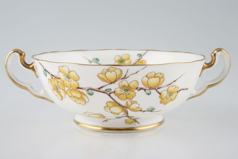 Adderley + Royal Adderley - Chinese Blossom - Yellow - Soup Cup - 2 handles