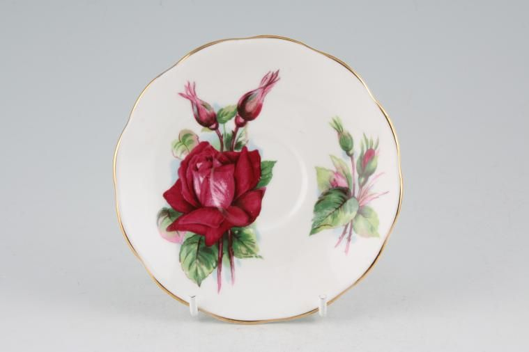 Roslyn - Harry Wheatcroft Roses - Grand Gala - Coffee Saucer