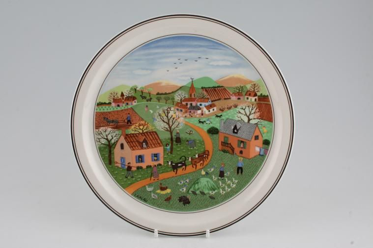 Villeroy & Boch - Design Naif - Picture / Wall Plate - The Four Seasons, No. 1 Spring